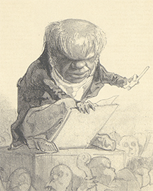 KBR – Caricature of Fétis by Félicien Rops - Prints and drawings - S.II 128393