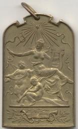 Médaille, Belgique, 1901Fisch | Leopold II. Souverain