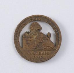 Médaille, Belgique, 1914Nagels (ateliers) | Albert I. Souverain