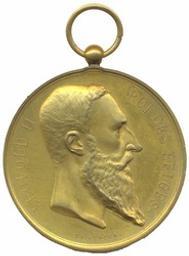 Penning, Brussel, 1888   Leopold II. Heerser