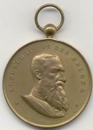 Médaille, Belgique, 1901[Fisch | Leopold II. Souverain