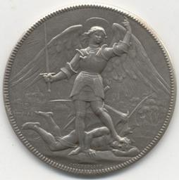 Penning, Brussel, 1877   Leopold II. Heerser