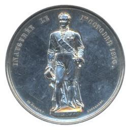 Médaille, Belgique, 1876Geerts | Leopold II. Souverain