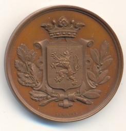 Médaille, Belgique, 1879Lemaire | Leopold II. Souverain