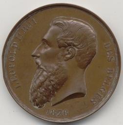 Penning, Brussel, 1876   Leopold II. Heerser