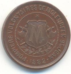 Médaille, Belgique, 1882A. Fisch | Leopold II. Souverain