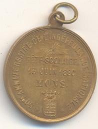 Jeton, Belgique, 1880Wurden | Leopold II. Souverain