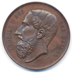 Médaille, Belgique, 1874Fisch | Leopold II. Souverain
