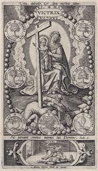 The Virgin and Christ Triumphing over the Heretics. graphic | Wierix, Anton II (Flemish printmaker, 1555/1559-1604). Dessinateur-maquettiste