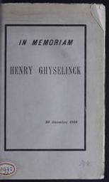 In memoriam Henry Ghyselinck | Protat Frères. Éditeur