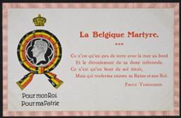 La Belgique Martyre postcard |