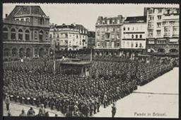 Parade in Brüssel postcard |