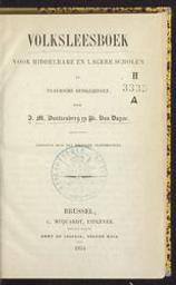 Volksleesboek voor middelbare en lagere scholen en Vlaemsche huisgezinnen door J. M. Dautzenberg en Pr. van Duyse | Dautzenberg, Johan Michiel (1808-1869) - Letterkundige. Auteur