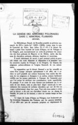 La genèse des armoiries polonaises dans l'armorial flamand résumé Hélène Polaczek | Polaczek, Hélène. Auteur