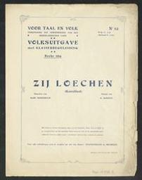 Zij loechen Musique imprimée kunstlied muziek van H. Durieux ; woorden van Albrecht Rodenbach | Durieux, H - (musicus)