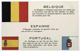 Belgique. Espagne. Portugal postcard |