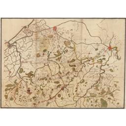 [Carte dessinée à la plume représentant les environs d'Ostende, Nieuport, Ypres, Torhout, Courtrai, Bruges et Gand] Document cartographique Anonyme |
