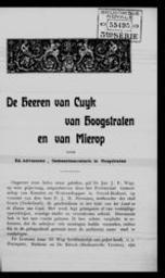 De heeren van Cuyk van Hoogstraten en van Mierop door Ed. Adriaensen | Adriaensen, Edward. Auteur