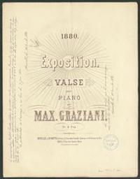 Exposition Musique imprimée = Gedrukte muziek valse Maximilien Graziani | Graziani, Maximilien. Compositeur