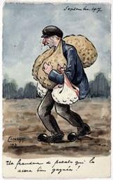 Septembre 1917. Un fraudeur de patates qui les aura bien gagnées! postcard |
