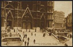 Deutsche Soldaten verlassen nach der Messe die St. Gudulen Kirche in Brüssel postcard |