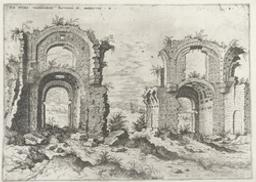 Second View of the Baths of Diocletian | Cock, Hieronymus (fl. 1548-1570). Boekontwerper