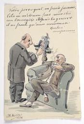 Votre perroquet ne parle jamais. (...) nouveaux riches accapareurs postcard |