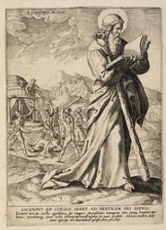 St James the Less graphic | Wierix, Anton II (Flemish printmaker, 1555/1559-1604). Graveur