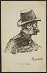 Carabinier (Belge) postcard |