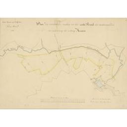Plan der verschillende werken tot het zesde perceel der werkzaamheden ter verbetering der vesting Meenen Derde directie van fortificatien (1828) |