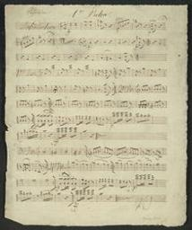 Introduction, thème et variations Musique manuscrite = Handgeschreven muziek Paganini | Paganini, Niccolò (1782-1840) - Italian violinist and composer. Componist