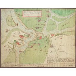 Bij dese charte ende figure mach men zien die gheleghentheid van t'landt van Vlaendren ende Zeelandt zoo dat lach ten tijde van grave Ghuwijt grave van Vlaendren - anno 1288 Cartografisch document Benthuijs   Benthuys (flor. ca 1781)