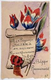 La Belgique Reconnaissante! postcard |