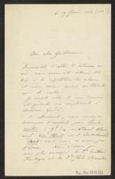 [Lettre autographe signée de Vincent d'Indy à Guillaume Guidé] | Indy, Vincent d' (1851-1931)
