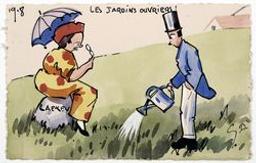Les Jardins Ouvriers ! postcard |