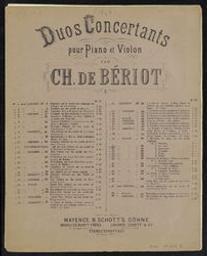 Thème (Air) varié No 2 pour piano et violon Musique imprimée = Gedrukte muziek opus 45 par E[douard] Wolff & Ch[arles] de Bériot | Bériot, Charles-Auguste de (1802-1870). Compositeur