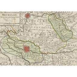 De heerlykheid Mechelen nevens haar onderhoorig gebied volgens de nieuwste waarneminge Cartografisch document | Elwe, Jan Barend (flor. 1777-1815). Éditeur