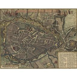 Grondtekening der stad Brussel Document cartographique |