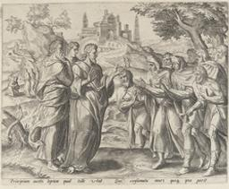 Christ Healing the Ten Lepers graphic | Wierix, Johannes (1549-ca 1620). Engraver