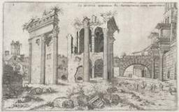 View of the Forum of Nerva | Cock, Hieronymus (fl. 1548-1570). Boekontwerper
