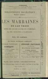 Les marraines de l'an trois revue de 1849, en trois et quatre tableaux par MM. Dumanoir et Clairville | Dumanoir, Philippe ((1806-1865)). Auteur