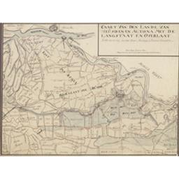 Caart van den Lande van Heusden en Altona met de Langstraat en Overlaat so als die in den jare 1766 tussen Baartwijk en Drunen gemaakt is Cartografisch document Anoniem |