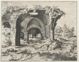 View of Unidentified Ruins | Cock, Hieronymus (fl. 1548-1570). Dessinateur-maquettiste