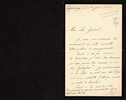 [Lettre autographe signée du Prince Albert de Belgique au général Jungbluth] = [ms. III 1.353/5]   Jungbluth, Harry-Alfred (1847-1930 Chef de la Maison Militaire et conseiller du Roi Albert I de Belgique) - Général