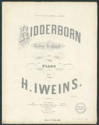 Ridderborn Musique imprimée = Gedrukte muziek galop brillant Henri Iweins | Iweins, Henri. Componist