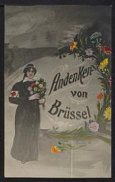 Andenken von Brüssel postcard  