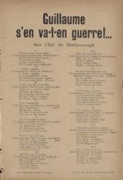 Guillaume s'en va-t-en guerre!... chanson-scie sur l'air de Malborough paroles de Jean Prévost & Danerty | Pèle-Mêle-Edition. Uitgever