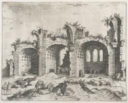 The Basilica of Constantin | Cock, Hieronymus (fl. 1548-1570). Dessinateur-maquettiste