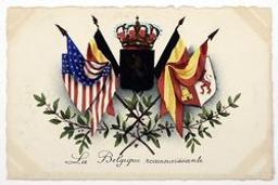 La Belgique reconnaissante postcard |