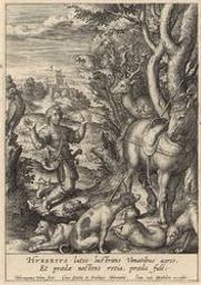 St Hubert graphic | Wierix, Hieronymus (Anvers, 1553 - 1619). Graveur